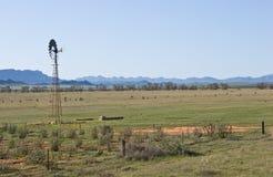 Windmühlen-Hinterland Südaustralien Stockbild