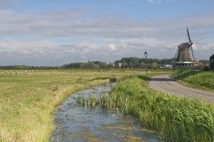 Windmühlen in Holland Stockfoto