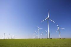 Windmühlen in Holland für Energie Stockfotografie