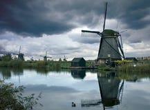 Windmühlen in Kinderdijk, die Niederlande Lizenzfreies Stockbild
