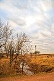 Windmühlen-Landschaft Lizenzfreie Stockfotos