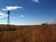 Windmühlen-Landschaft lizenzfreie stockbilder