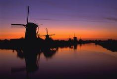 Windmühlen oder Holland Lizenzfreie Stockfotografie