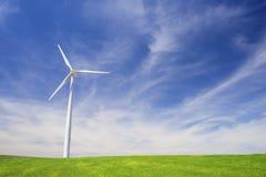 Windmühlen am Sonnenaufgang Stockbilder