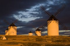 Windmühlen in Spanien Stockfoto