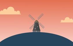 Windmühlen-Tapete Lizenzfreie Stockbilder