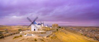 Windmühlen von La Mancha Lizenzfreie Stockfotos