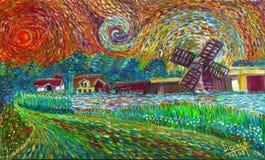 Windmühlen von Timmernabben, MönsterÃ¥s Stockfoto