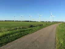 Windmühlen warnt herein Stockfoto