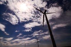 Windmühlen-Windkraftanlage Lizenzfreie Stockbilder
