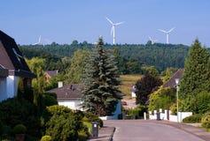 Windmühlengeneratoren in Deutschland Lizenzfreies Stockfoto