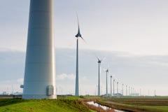 Windmühlenpark in der Landschaft Lizenzfreie Stockfotos