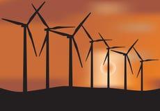 Windmühlenturbine Stockfotografie