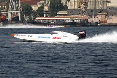 Windmare Racing team on the race Royalty Free Stock Images