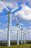 Windmühlen im windfarm Stockfotos