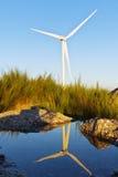 Windmil в верхней части горы Стоковое Изображение