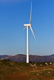 Windmil в верхней части montain стоковое изображение rf