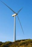 Windmil in de bovenkant van een berg Royalty-vrije Stock Afbeelding