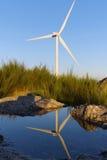 Windmil w wierzchołku mountainl Fotografia Stock