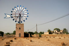 Windmill. In campos Stock Photo