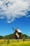Windmill. Old wooden windmill - wind mill in Russia Royalty Free Stock Photo