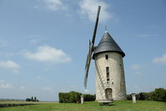 Windmill. In Oise,Picardy region of France Royalty Free Stock Photos