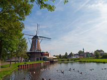 Windmill. In Bunschoten-Spakenburg, the Netherlands Stock Image