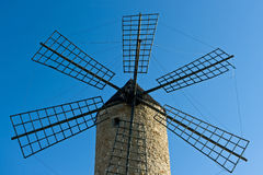 Windmill. Old windmill from Majorca, Spain Royalty Free Stock Photo