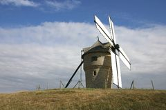Windmill. Manufacturing of the flour of corn Stock Images