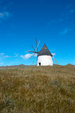 Windmill. Traditional windmill amid meadow at springtime Royalty Free Stock Image