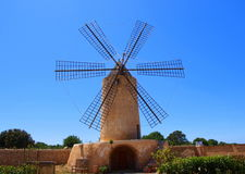 Windmill. Traditional windmill in algaida, mallorca Royalty Free Stock Image