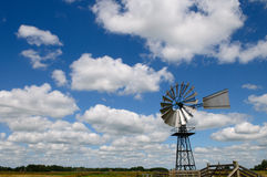 Windmill. Winmill against a wonderfull cloudy blue sky Royalty Free Stock Photo