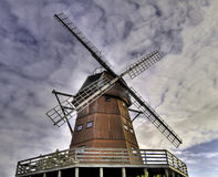 Windmill. Old wooden windmill. (Dutch type royalty free stock image