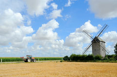 Windmill. Wind mill with blue sky stock image