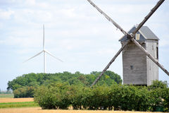 Windmill. Wind mill with blue sky stock photography