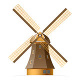 Windmill. Vector illustration of a windmill Royalty Free Stock Images