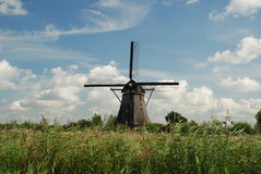Windmill. Typical dutch windmill in Kinderdijk, Netherlands Royalty Free Stock Images