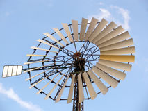 Windmill. Blades of windmill on blue sky Royalty Free Stock Photo