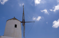 Windmill. On greek Santorini island stock photo