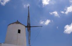 Windmill. On greek Santorini island Stock Photo