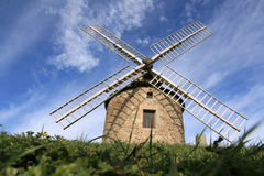 Windmill. Old windmill in brittany, France (Lancieux Stock Photos