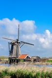 Dutch Kinderdijk Windmill Stock Photography