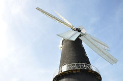 Windmill. Boston windmill on blue sky Stock Image