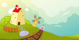 windmill stock illustrationer