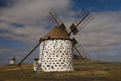 Windmill. On a quiet hill in Fuerteventura Stock Photography