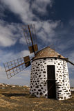 Windmill. On a quiet hill in Fuerteventura Stock Photos