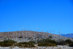 Windmill. Lots of Windmill in a bright sunny day Stock Photos