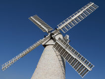 Windmill. White windmill clear blue sky stock photos
