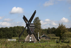 Windmill. A old traditional dutch windmill Stock Images
