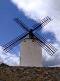 Windmill. At Castilla-La Mancha Stock Photo